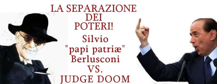 papi, in segno di ricusazione, mostra il medio al giudice